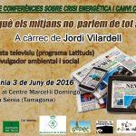 Demà: xerrada Jordi Vilardell a la Sénia