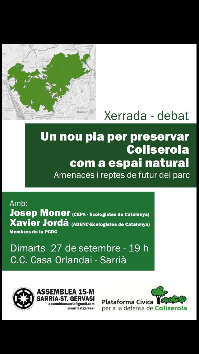 Xerrada-debat: un nou pla per preservar Collserola com espai natural