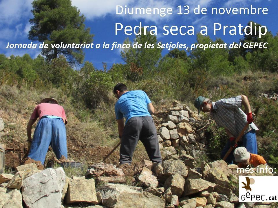 13 de novembre: Jornada pedra seca a Pratdip