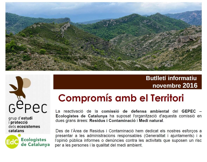 Butlletí GEPEC-Ecologistes de Catalunya novembre