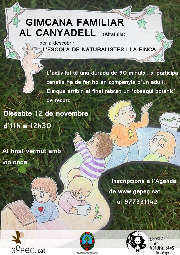 dissabte 12 novembre: Gimcana de descoberta de l'escola del corriol i el Canyadell