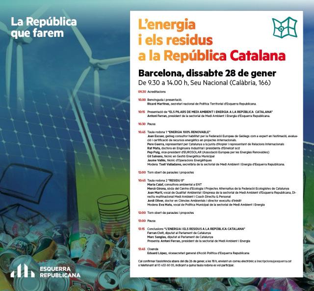"""Residu zero a les Jornades """"L'Energia i els residus a la República Catalana"""""""