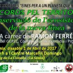 Dissabte 1 d'abril Xerrada Custòdia a La Sénia