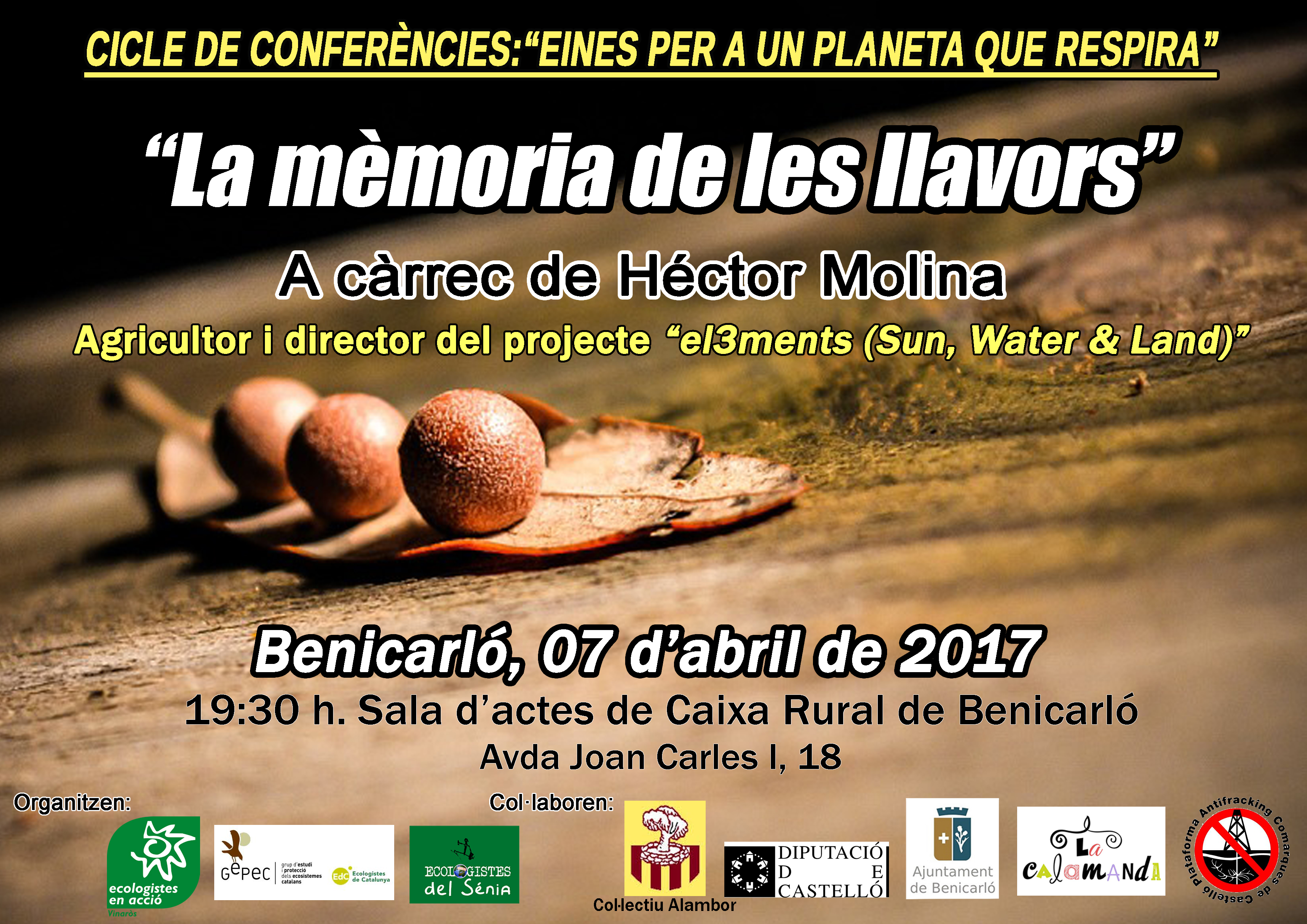 divendres 7 d'abril Xerrada llavors a Benicarló