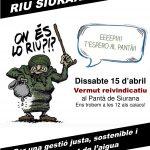 Dissabte, 15 acte reivindicatiu a l'embassament de Siurana