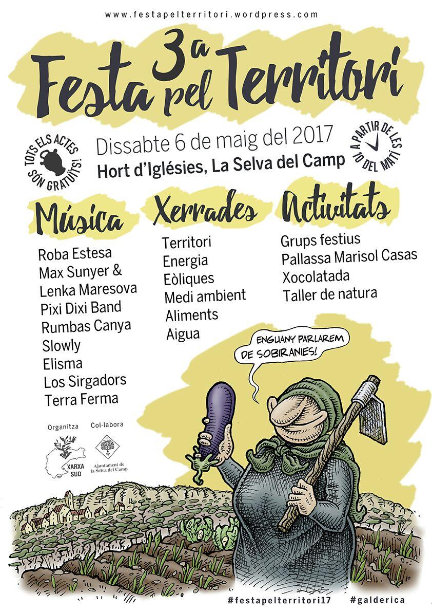6 de maig: 3a Festa pel territori a La Selva del Camp