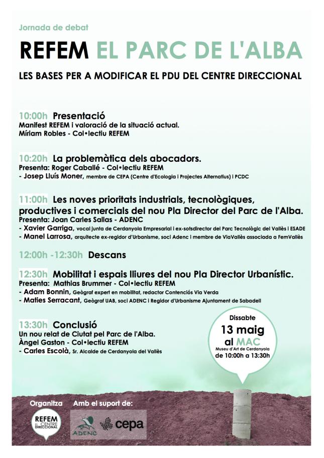"""Jornada """"Refem el Centre Direccional"""" a Cerdanyola del Vallès. Dissabte 13-05-2017"""