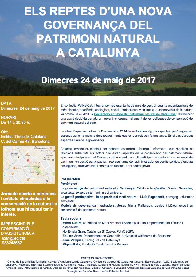 JORNADA sobre el governament del patrimoni natural a Catalunya