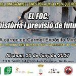 Dissabte 10 de juny xerrada a Alcanar: El foc: història i previsió de futur
