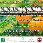 Dissabte 8 de juliol xerrada a La Sénia: L'Agricultura Biodinàmica