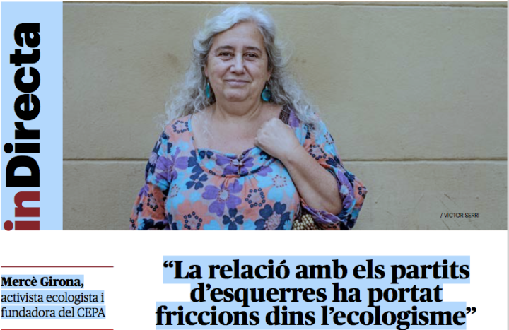 """Entrevista a Mercè Girona, sòcia fundadora del CEPA-EdC, a """"La Directa"""""""
