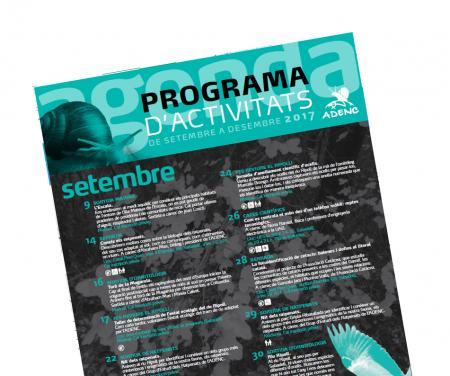 Nou programa d'activitats naturalistes de l'ADENC per aquest final d'estiu i la tardor