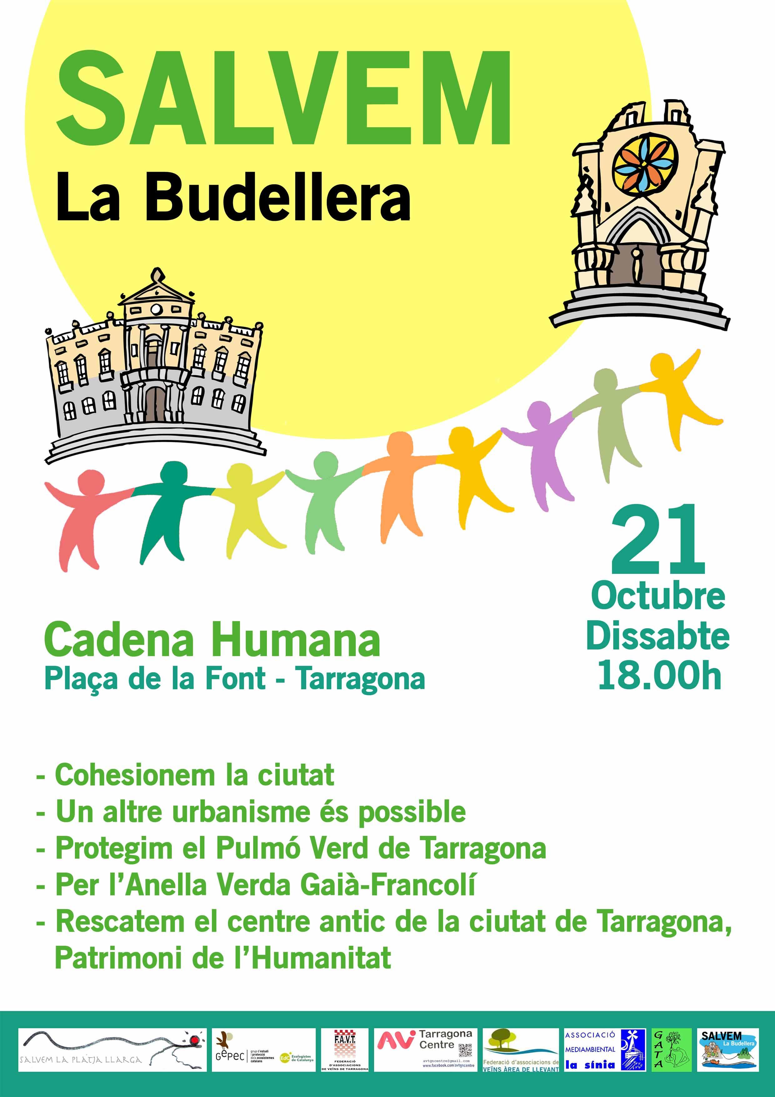 21 d'octubre Cadena humada per defensar La Budellera