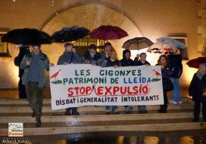 Ipcena irromp al Bisbat de Lleida per denunciar la retirada de nius de cigonya dels contraforts de la Catedral Nova