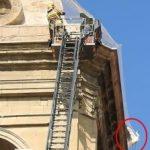 Atrapades tres cigonyes a la catedral nova de Lleida