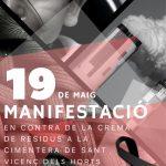 Cepa-Ecologistes de Catalunya donem ple suport a la manifestació a Sant Vicenç dels Horts en contra de la Crema de Residus a Ciments Molins