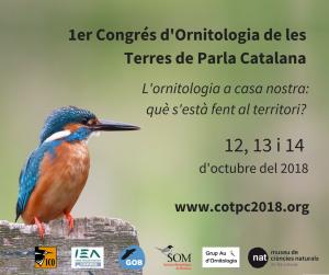 L'ADENC participa com a entitat col·laboradora del primer Congrés d'Ornitologia de les Terres de Parla Catalana