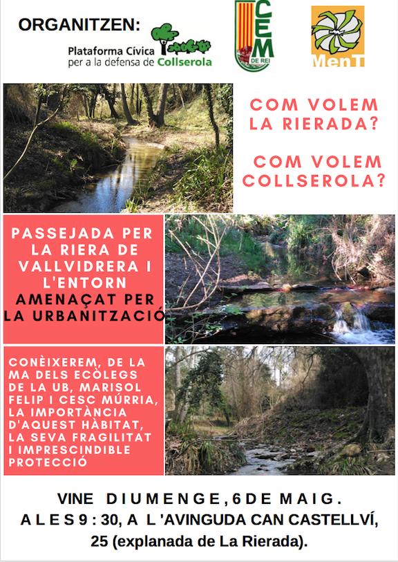 Caminem per evitar que s'urbanitzi la riera de Vallvidrera