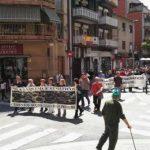Manifestació de rebuig a l'autorització ambiental per augmentar la crema de pneumàtics de Ciments Molins