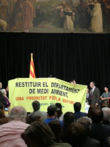 Ecologistes de Catalunya reclama la Conselleria de Medi Ambient durant l'entrega de premis de Medi Ambient de 2018