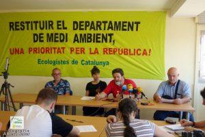 Els ecologistes exigeixen al nou Govern que recuperi la conselleria de Medi Ambient