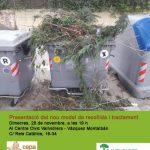 Presentat el projecte de recollida i compostatge de les restes vegetals dels barris de muntanya de Barcelona
