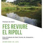 L'ADENC organitza una nova plantada popular al riu Ripoll aquest diumenge en col·laboració amb WWF Barcelona