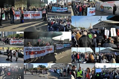 Èxit de la manifestació veïnal  pel tancament de la incineradora de barcelona