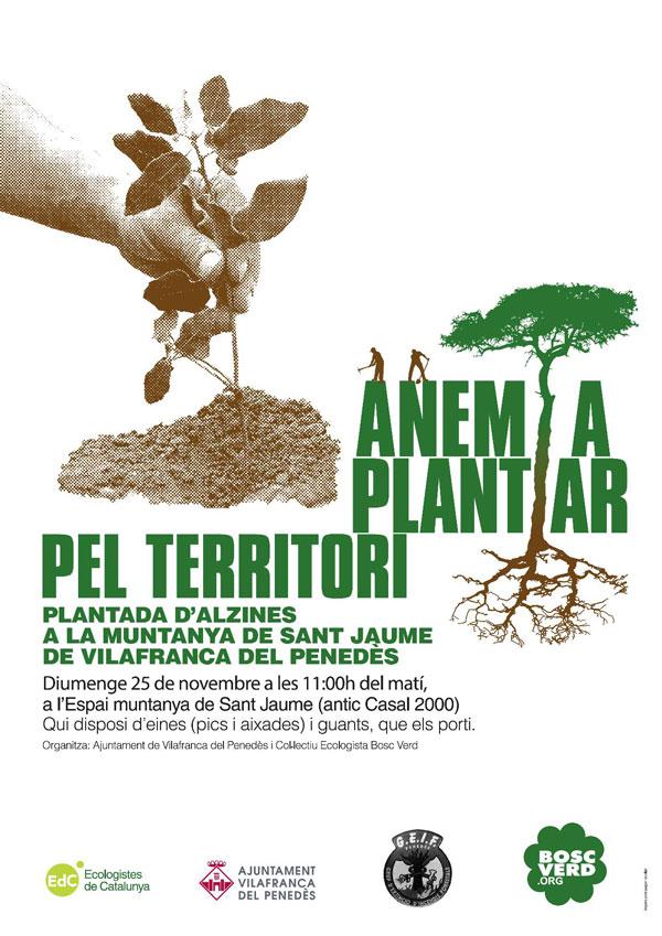 Plantació forestal a la muntanya de Sant Jaume 2018