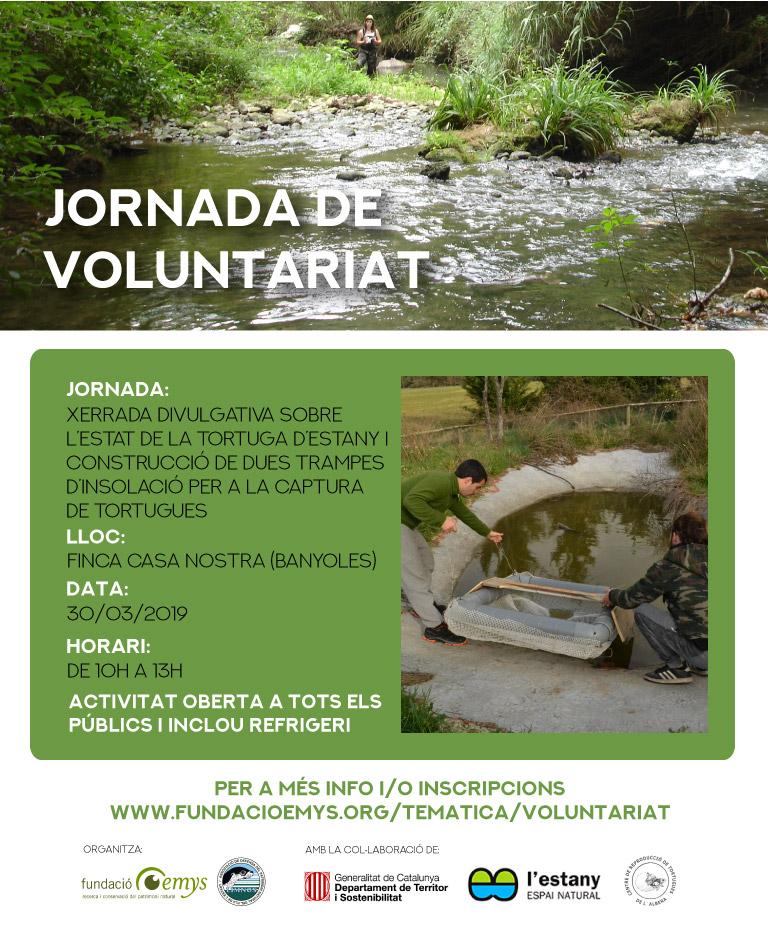 Voluntariat amb els amics de la tortuga d'estany, xerrada i construcció de trampes d'insolació per a tortugues