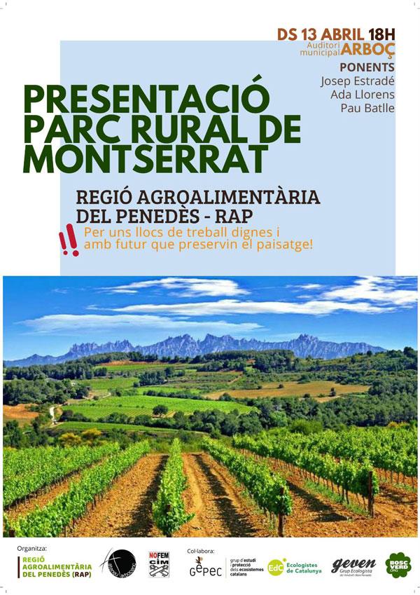 Presentació del Parc Reral de Montserrat