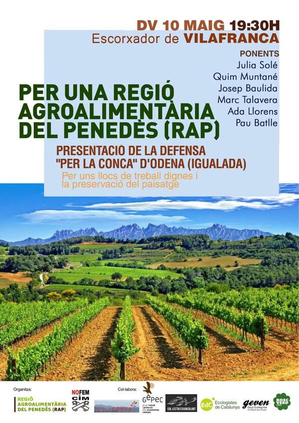 Per una Regió Agroalimentària del Penedès (RAP)