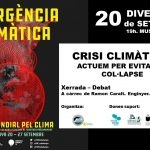 20 Setembre Xerrada – Debat: Crisis climàtica. Actuem per evitar el col·lapse
