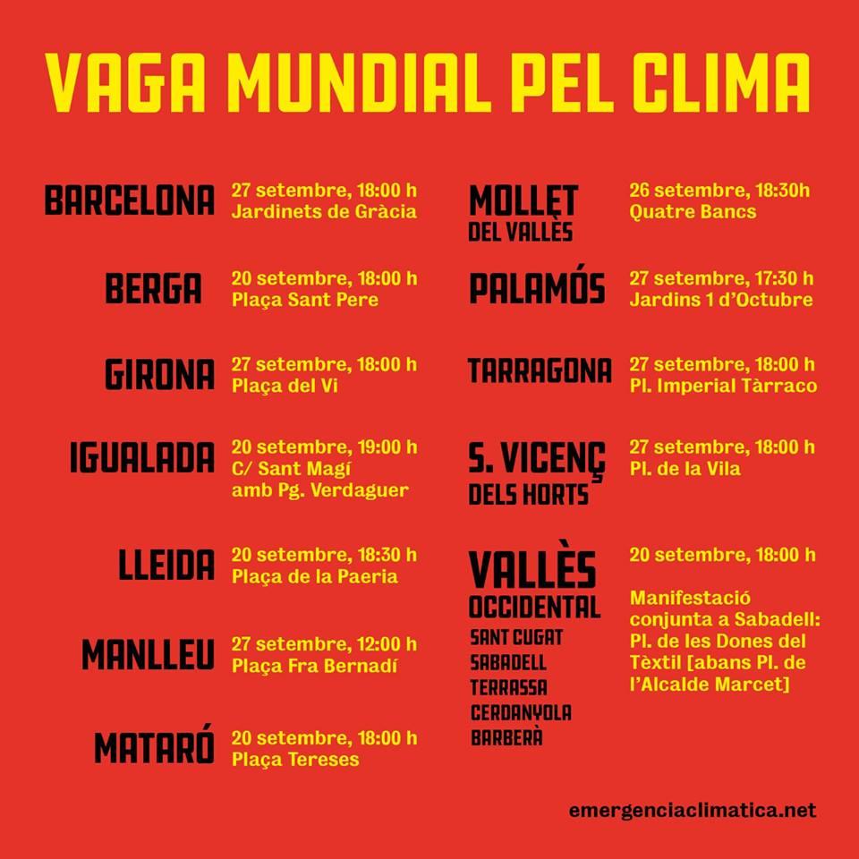 Limnos s'adhereix al manifest i la vaga del 27 de setembre pel clima i demana que la gent prengui consciència i actuï per aturar l'emergència climàtica