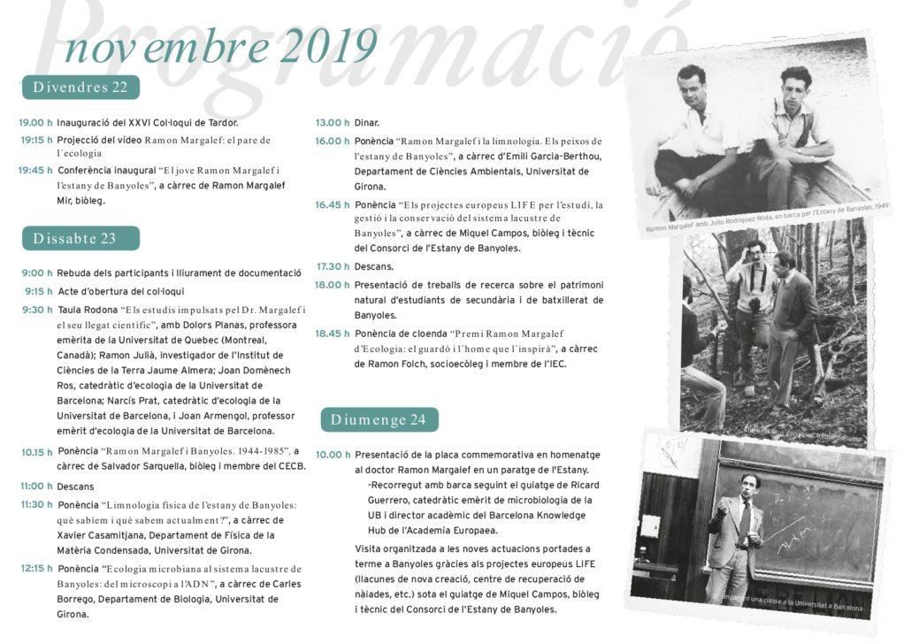 Interessant Col·loqui de tardor del CECB sobre la figura de Ramon Margalef impulsor de l'ecologia a l'Estany de Banyoles