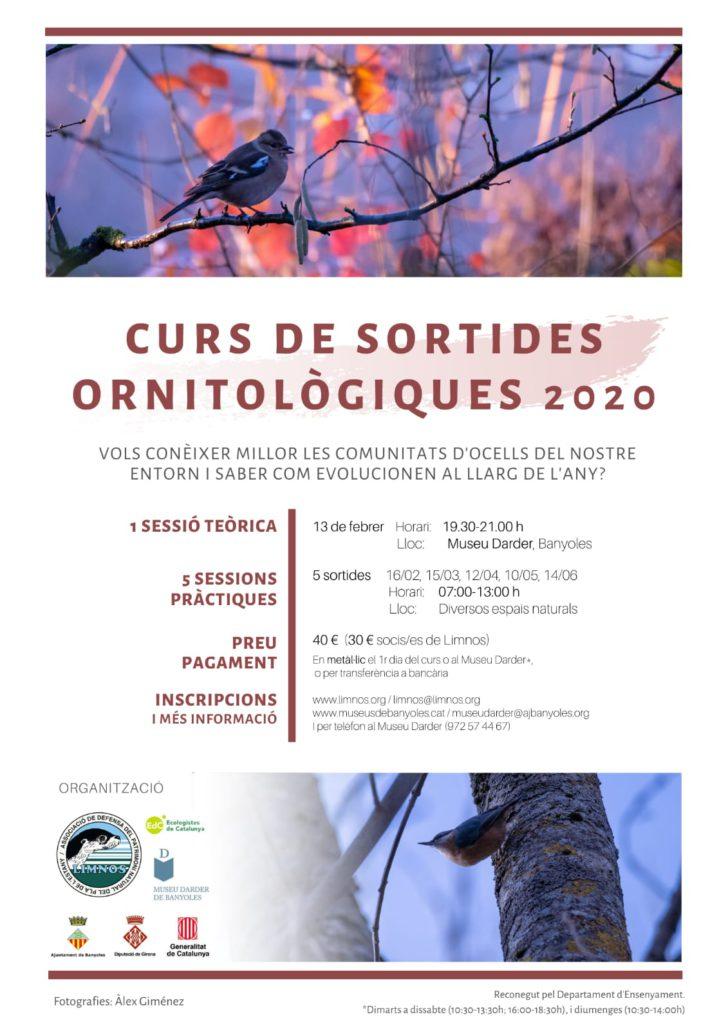 NOU!! CURS DE SORTIDES ORNITOLÒGIQUES 2020