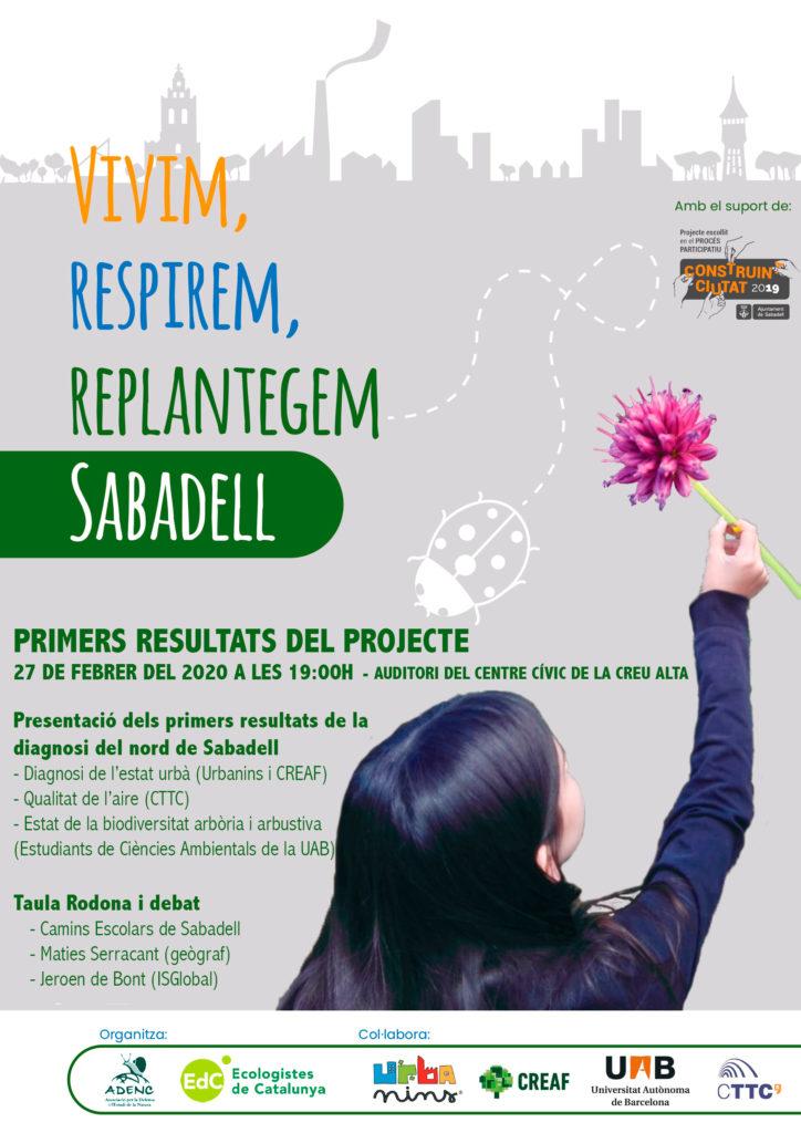 Primers resultats del projecte Vivim, Respirem, Replantegem Sabadell