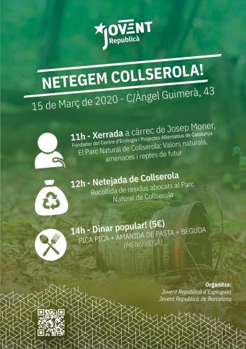 Xerrada i acció de neteja al parc natural de Collserola