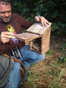Revisem les caixes niu del parc agroecològic d'Albons