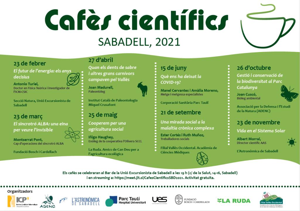 Cafès científics. Sabadell, 2021